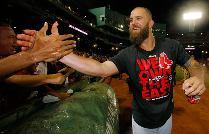 The Boston Red Sox Mike Napoli