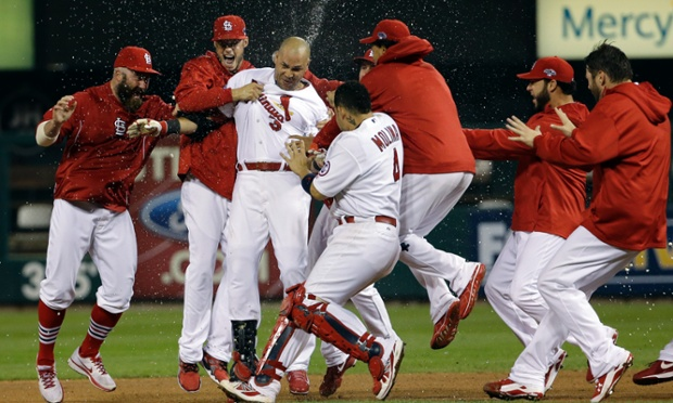 Carlos Beltran did it all for his St Louis Cardinals as they defeated the Los Angeles Dodgers 3-2 in 13 innings to take a 1-0 lead in the NLCS.