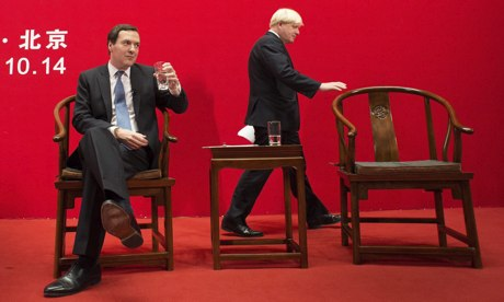 George Osborne and Boris Johnson in Beijing