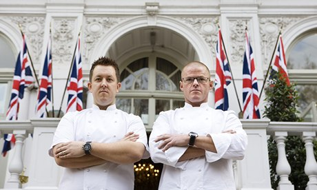Heston Blumenthal and Ashley Palmer-Watts