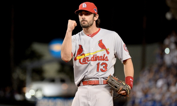 Matt Carpenter and his St Louis Cardinals are a game away from reaching the World Series after defeating the Los Angeles Dodgers 4-2 in Game Four of the National League Championship Series.