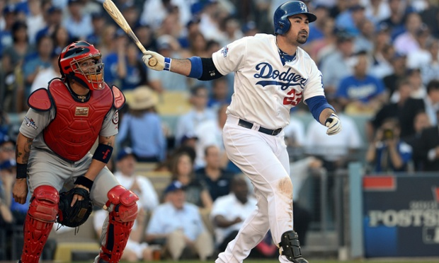 Adrian Gonzalez hit two of the Dodgers four home runs in their 6-4 victory over the Cardinals. Los Angles will look to even the National League Championship Series at three games a piece in St Louis on Friday.