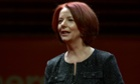 Julia gillard will take a position at the Brookings Insitution. Photograph: AFP/Saeed Khan/Getty