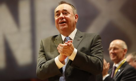 Alex Salmond at the SNP conference