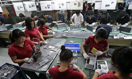 Foxconn factory in Wuhan, China