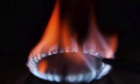 Flames on gas ring