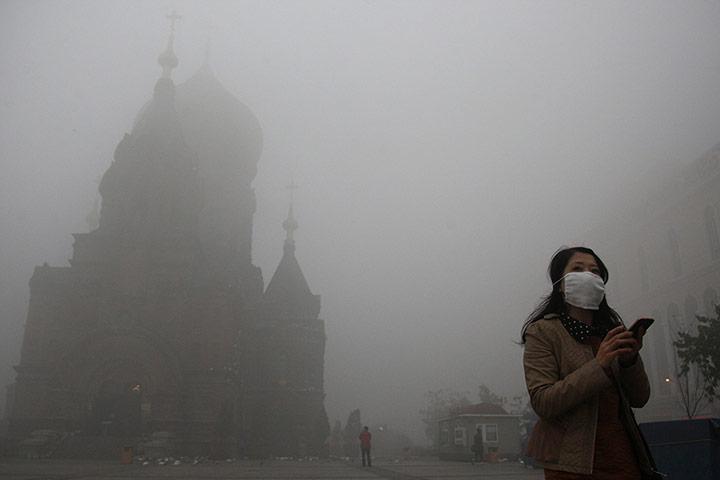 China smog: San Sophia church
