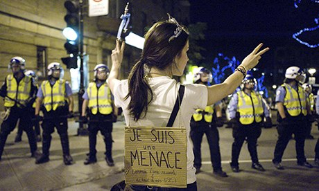 Students protest in Quebec