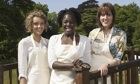 Great British Bake Off finalists Ruby Tandoh, Kimberley Wilson and Frances Quinn