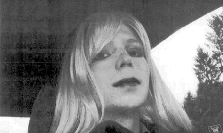 This undated photo courtesy of the US Army shows a photo of Chelsea Manning in wig and make-up.