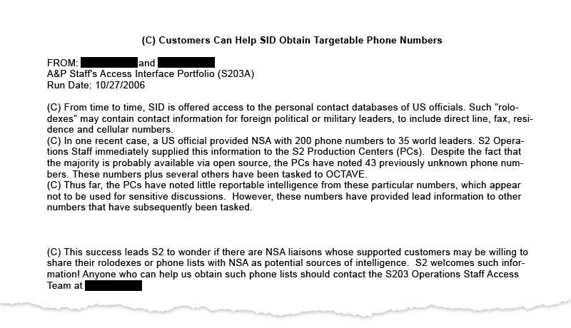 NSA Spy Document SID_800