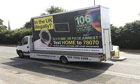 One of the government ad vans urging illegal immigrants to 'go home or face arrest'