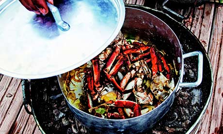 Colour of maroc: spiced morrocan crab