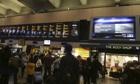 Departure boards at Euston Station