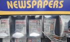 Newspapers on sale