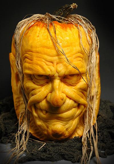 Funny Face Pumpkin Carving Pumpkin Carving a Horror Face