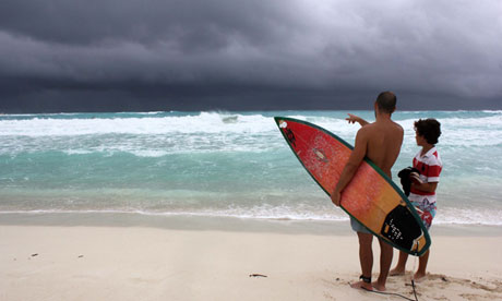 Hurricane Watches Issued As Tropical Storm Karen Threatens