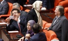 turkey female mps headscarves parliament first time