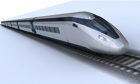 HS2 train simulation