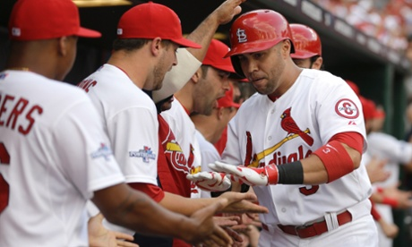 Carlos Beltran's 15th career postseason home run gave the St Louis Cardinals a 3-0 third inning lead and tied him with Babe Ruth for playoff homers.