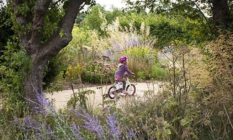 Gardens: gravel path