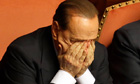Silvio Berlusconi after making a U-turn and backing PM Enrico Letta in the Italian Senate