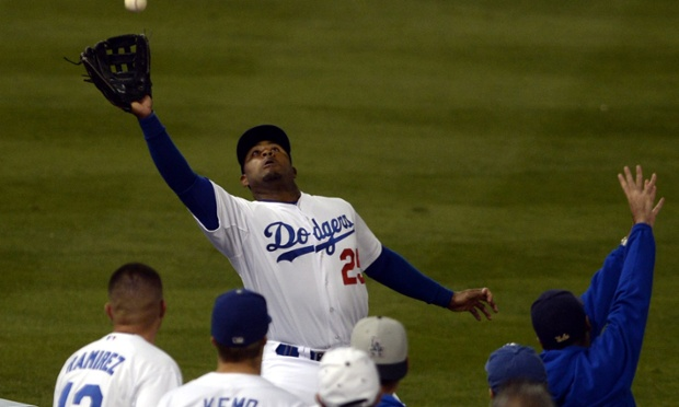 Carl Crawford was everywhere in the LA Dodgers' game three victory over the Atlanta Braves in game four of the National League Divisional Series, hitting a two-run home run and making a spectacular running catch in the eighth inning.