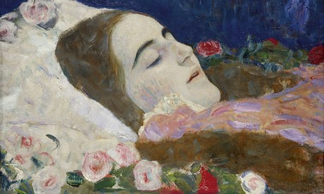 Ria Munk on her Deathbed, Gustav Klimt (1912), Oil on canvas