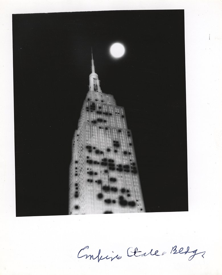 Weegee's infrared Empire State Building - a picture from the past