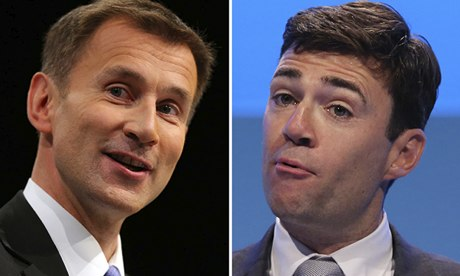 Jeremy Hunt and Andy Burnham