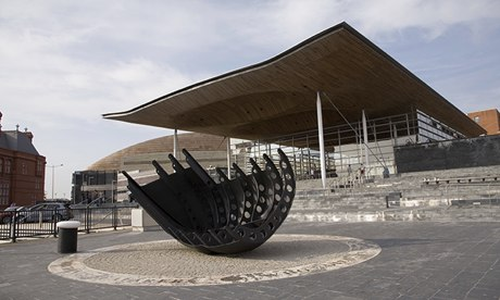 The Senedd building in Cardiff Bay.