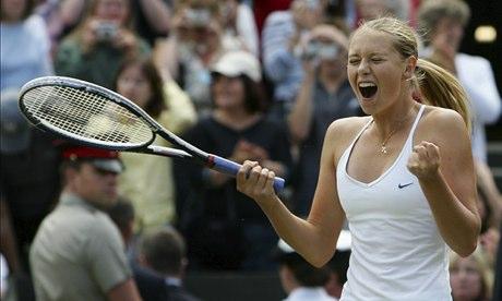 Maria Sharapova wins Wimbledon