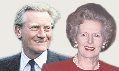 Michael Heseltine and Margaret Thatcher fell out publicly.