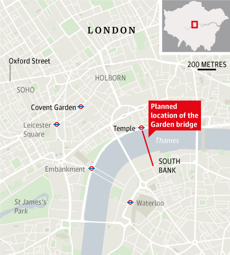 The Garden Bridge Temple South Bank Cancelled SkyscraperCity