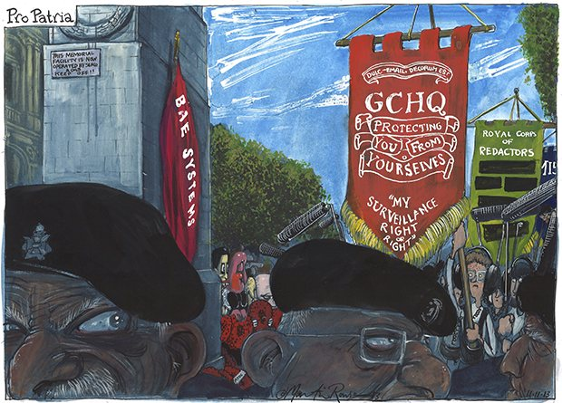 Remembrance Sunday -- A cartoon by Martin Rowson