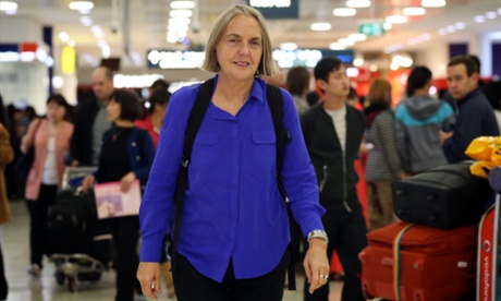 Australian Greens Senator Lee Rhiannon returns to Australia after being detained by Sri Lankan immigration officials.