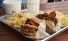 burger and fries from shake shack burger restaur