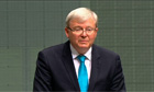 Kevin Rudd gives his resignation speech