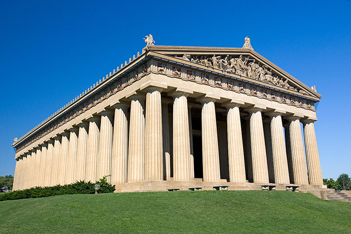 Faketouristattractions: Greek Parthenon Nashville Tennessee USA