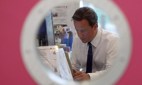 David Cameron online in 2009