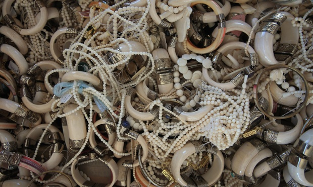 Six tons of ivory confiscated by the U.S. Fish and Wildfire Service on