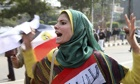 Female protester in Cairo
