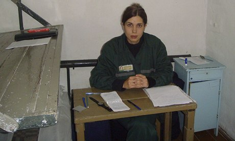 Nadezhda Tolokonnikova in a single confinement cell at a penal colony in Partza on 25 September