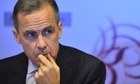 Bank of England Governor Mark Carney lea