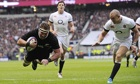 Kieran Read dives over the line