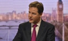 nick clegg rejects call for lowering of age of consent