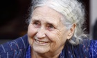 British novelist Doris Lessing