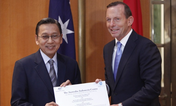Just last week, Tony Abbott and Indonesia's Vice-President Boediono commemorated the opening of The Australia-Indonesia Centre at Parliament House. Boediono was one of the senior government members who was targeted by Australian intelligence agencies.
