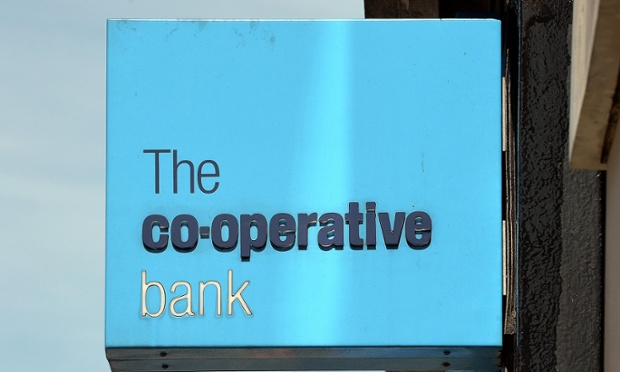 A Co-operative bank branch sign