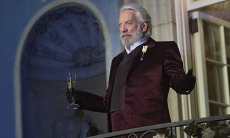 Donald Sutherland as President Snow in The Hunger Games: Catching Fir